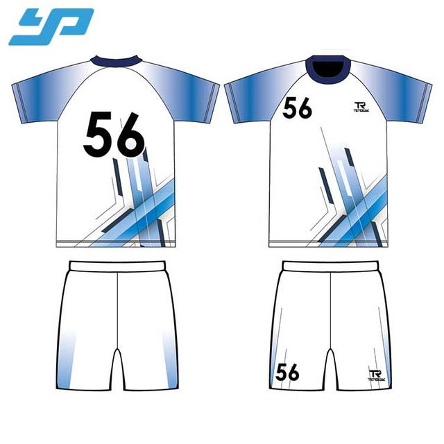 Full Over Sublimation Digital Printing Sportswear Soccer Jersey / Custom Team Name Soccer Uniform
