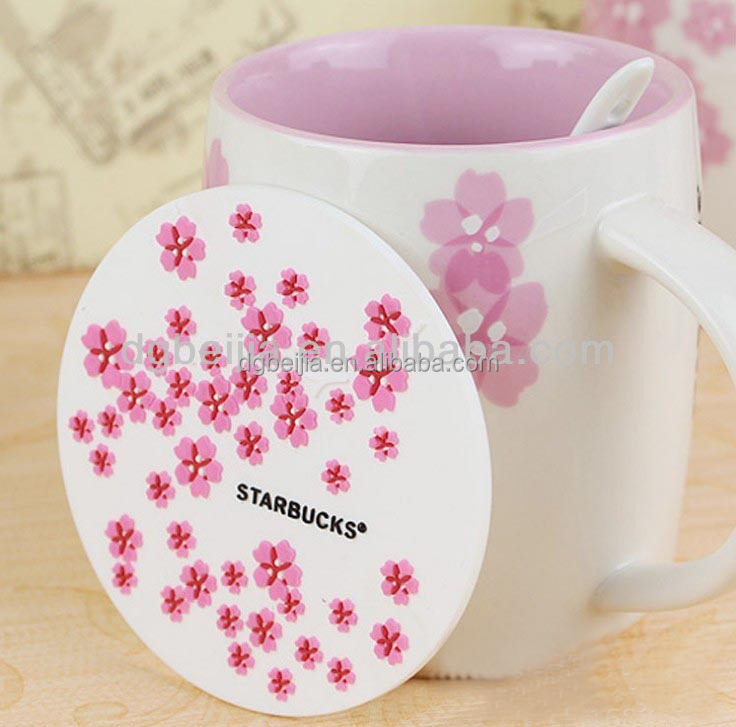 Eco-Friendly custom plastic pvc silicone drink coasters for businese gifts