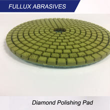 Fullux 3inch,4inch,Diamond Flexible Copper Bond Wet Polishing Pads