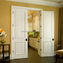 2 panel custom wooden door double swing interior kitchen room door