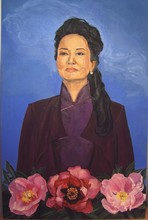 Oil Painting Portrait of Chinese First Lady Madame Peng Liyuan