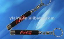 Promotion gifts led flashlight projector keychain