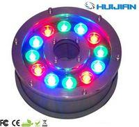 CE ROHS listed high waterproof 12w 12v led recessed underwater light 1m white rgb rgbw ip68 18w 24w 36w led light