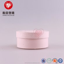 Wholesale Pink Small Cardboard Round Shape Hat UV Coating Paper Boxes for Bracelet Gift Packaging
