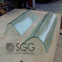 High Quality Hot Bent Glass Used