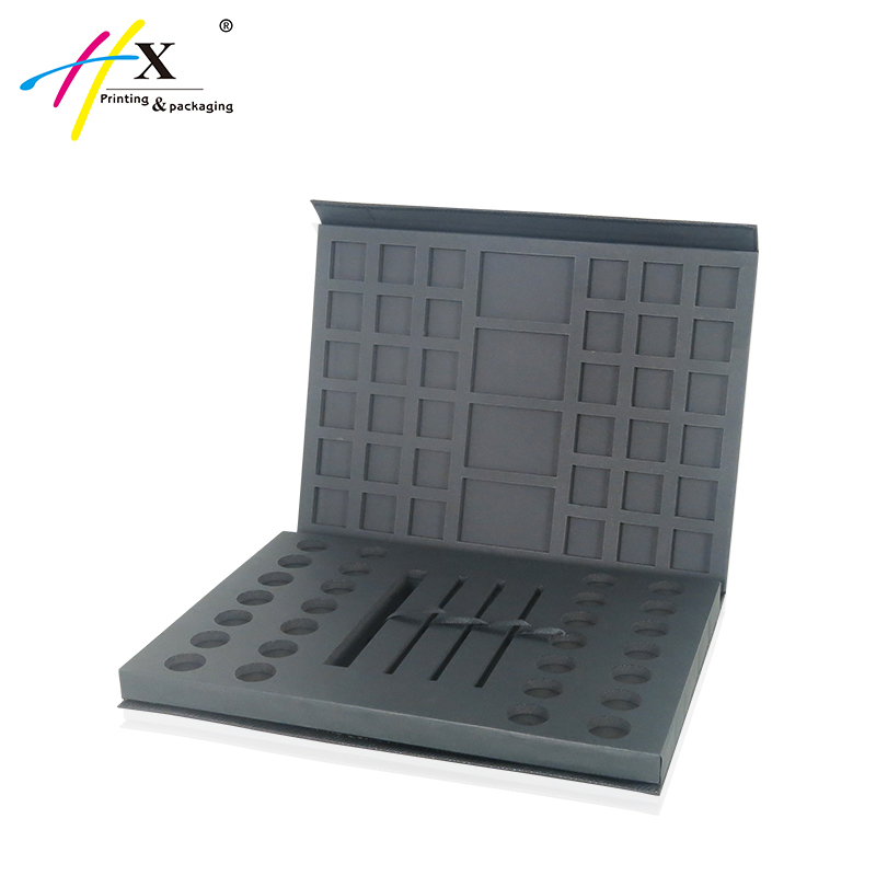 HUAXIN Packaging Box Luxury Paper Eyeshadow Palette Box, Eye shadow Magnetic Palette Packaging