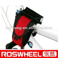 Bicycle Cycling Bike Frame Pannier Bag Rack Top Tube Saddle Bag Double Side with Mobile Phone Pouch