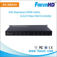 RS232 + IP control 2 x 2 video wall processor support seamless 4x4 matrix switcher