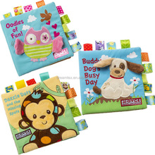 High quality cute design baby cloth book