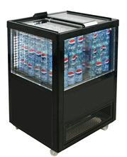 95-100L HOT SALE New Style Four-side Glass upright fridge BR98 for commercial use with high quality