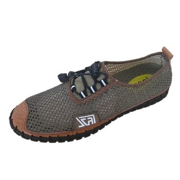 Mens Breathable Mesh Driving Shoes Hand-made Casual Leather Loafers