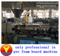 Pastic extruder machine/WPC foam board production line/PVC foam board production with high quality