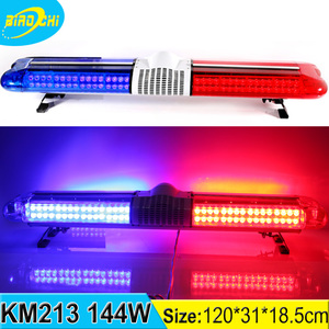 Guangzhou manufacturer 144W/120CM roof mount led safety warning light for forklift truck heavy duty equipment