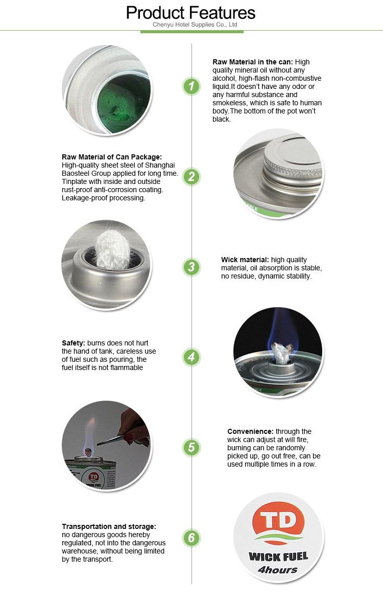 Materiais para restauração de 4hrs de combustível líquido