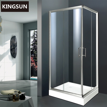 K-7501 China Supplier Folding Glass Doors Prefab Homes Shower Cabin Sale