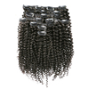 Cheap hair extensions clip in full head brazilian human hair afro kinky curly