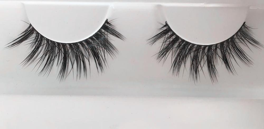Wholesale 100% preminum mink fur false strip eyelashes with private label
