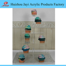6-Tier square Stacked Party Cupcake and Dessert Tower - Clear Acrylic Cake Stand