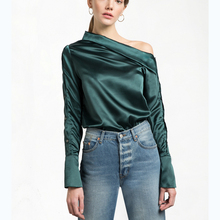 OEM/ODM 2017 Custom Latest Designs Long Sleeve Silk Blouse For Women
