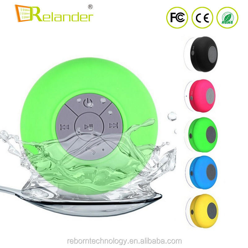 Promotional Cheap Colorful Portable Wireless Subwoofer IPX4 Waterproof Bathroom Shower Bluetooth <strong>Speaker</strong>
