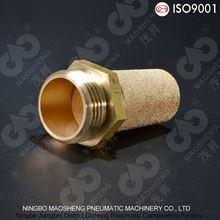 Sintered brass pneumatic air muffler