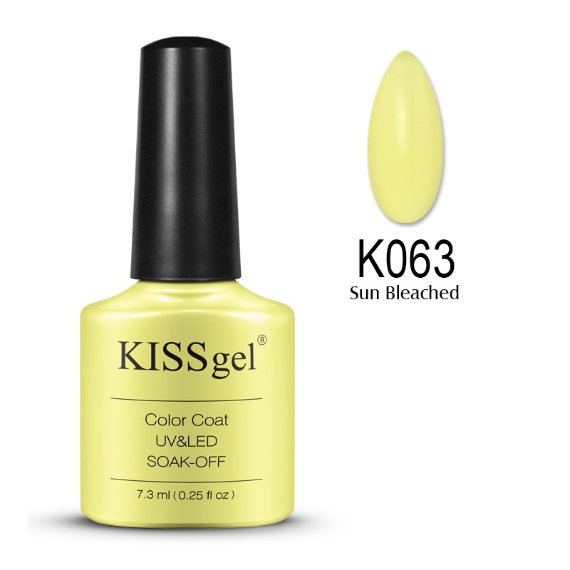 2016 best-selling newest fashion co Kissgel 7,3 ml Nail UV/LED Gel Global Wholesale Longwear The latest nail shop popular colors