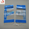 Custom Plastic Bags Clear Flat Opp Cpp Three Side SealBag With Hang Hole