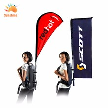 Outdoor television advertising banner,walking aluminum pole operated for National Day promotion