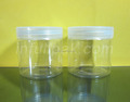 150g/150ml/5oz Wide Mouth PET Jar With Clear Plastic lid
