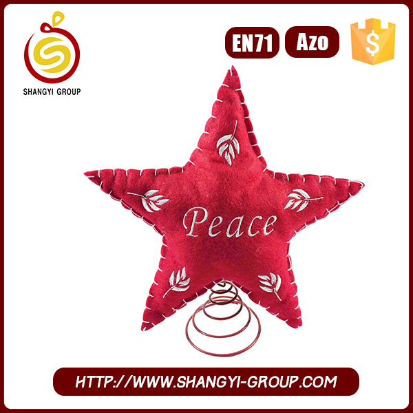 2017 new star shape christmas craft supply for decoration