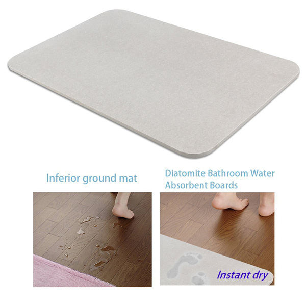 Soft Microfiber Water Absorbent Non-slip Antibacterial Rubber Luxury Bath Mat Rug