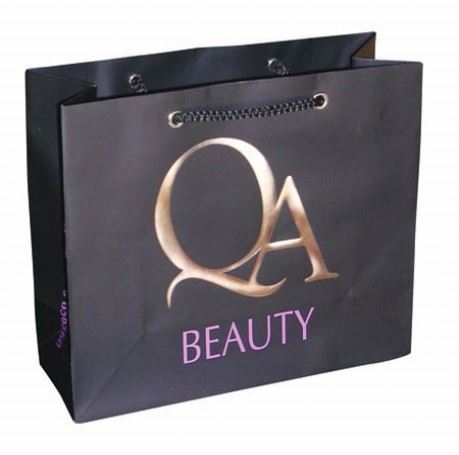 Hot stamping make up packaging paper bags for lady