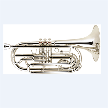 Bb chiave argento placcato marching trombone