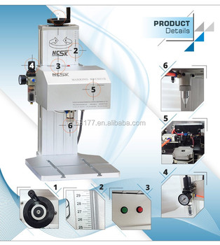 Rotation pin marking machine for metal