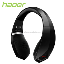 Supper bass sound bluetooth headset with mp3 fm radio player,Haoer stereo bluetooth headset with mp3 player