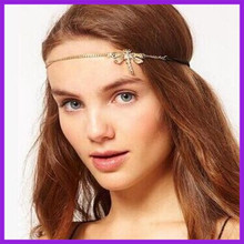 Wholesale italian hair accessories dragonfly shape indian hair chain