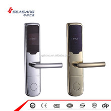 2016 Popular EU Standard Latches smart hotel rf lock Electronic RFID Card Digital Hotel Door Lock