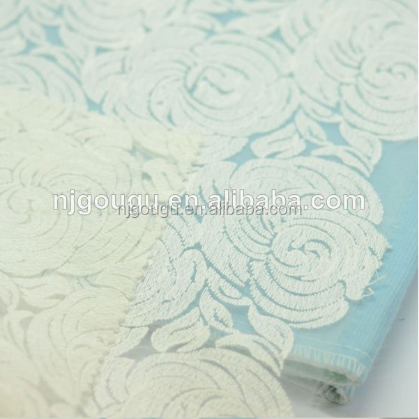 wholesale sequin fabric india white cotton lace embroidery fabric