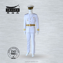 Customized white air force uniform and navy marine captain officers