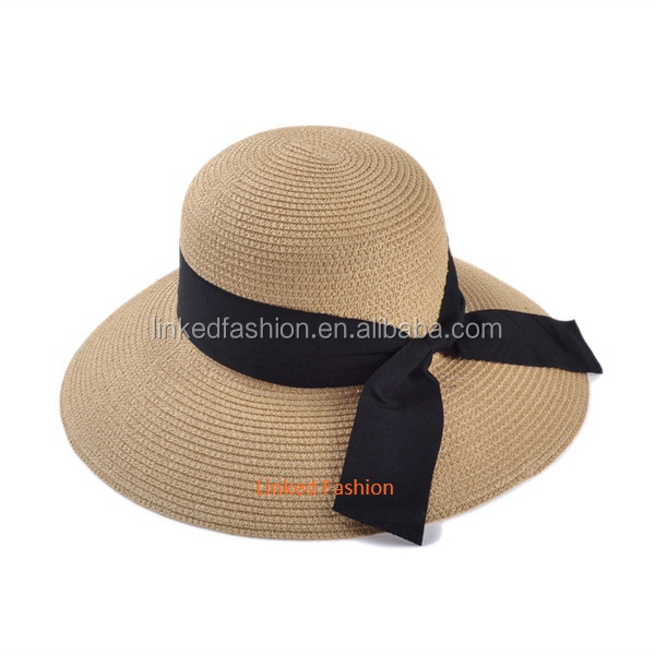 Wholesale elegant lady summer sun straw hat