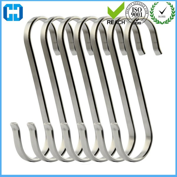 Heavy Duty Flat S Shaped Hooks 304 Stainless Steel S Hanging Hooks