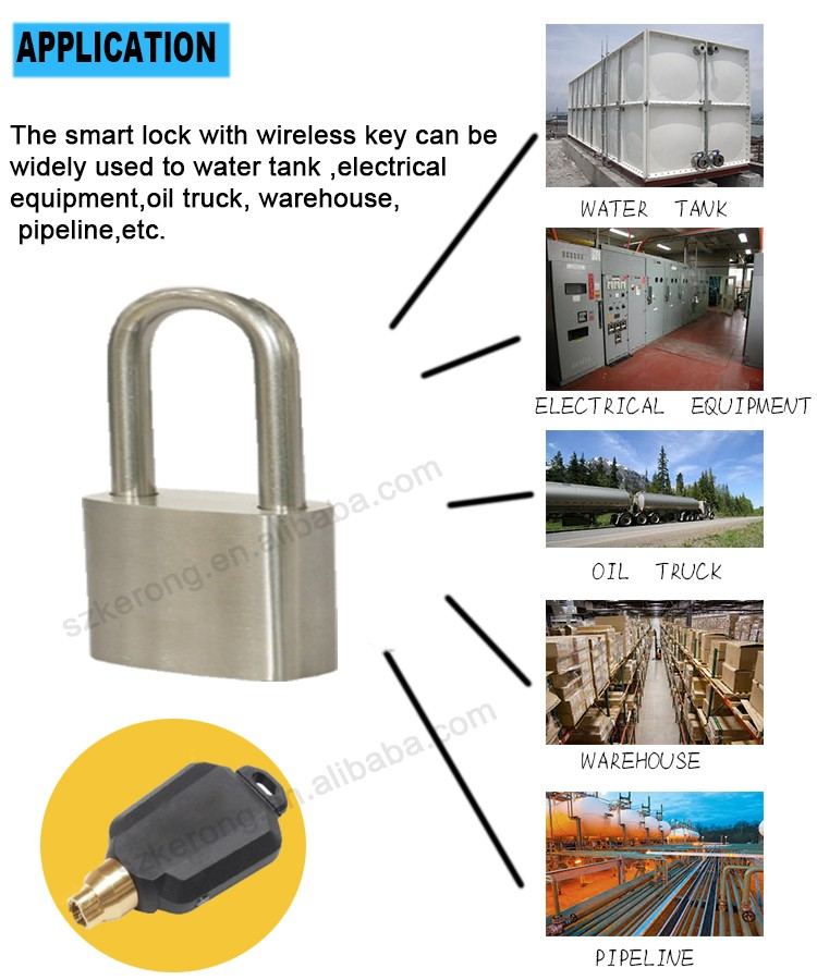 Metal safe box cam lock with smart electric key