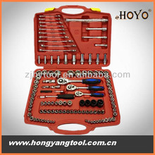 HY2105 121 pcs chrome plated different kinds of hand tools