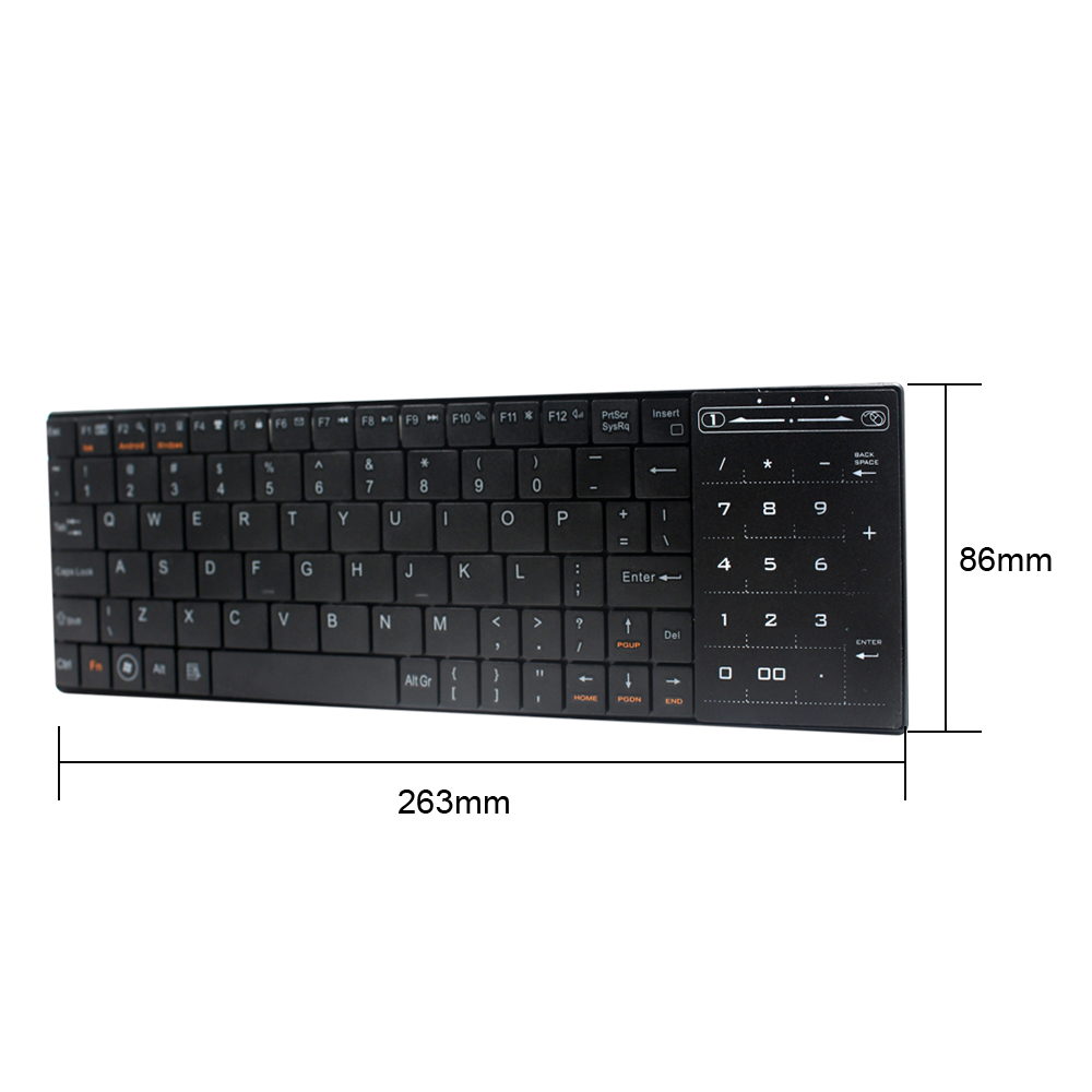 Mini Thin Portable Wireless Bluetooth 3.0 Keyboard Touchpad For Windows Android