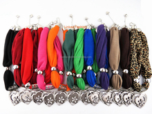 2016 Latest Necklace Pendant Lady Scarves with heart charm