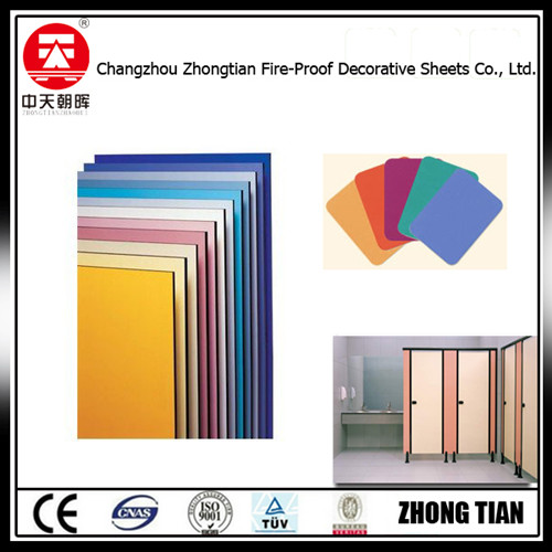 toilet cubicle partition fireproof board fomica laminate Decorative High-Pressure Laminates