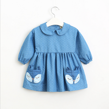 little <strong>girl's</strong> cute dot denim tunic <strong>dress</strong>