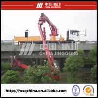 250kg capacity platform bucket type bridge inspection truck