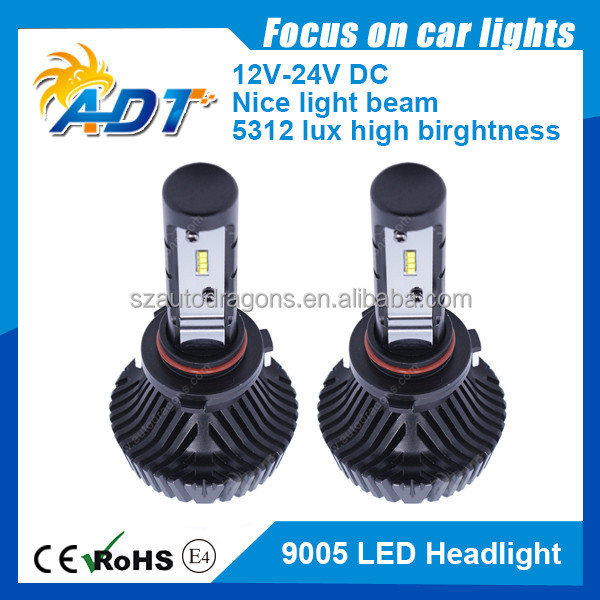 Auto Spare Parts 9005/HB3 Cool-pressed 6063 Aluminum 6000K Bulb Car Accessories LED Headlight