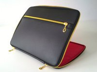 Hot sale portable type leather laptop case for 13/15 inch macbook